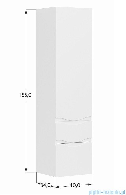 Antado Wave Grande Słupek Wysoki Prawy 40x34x155 Szary Mat