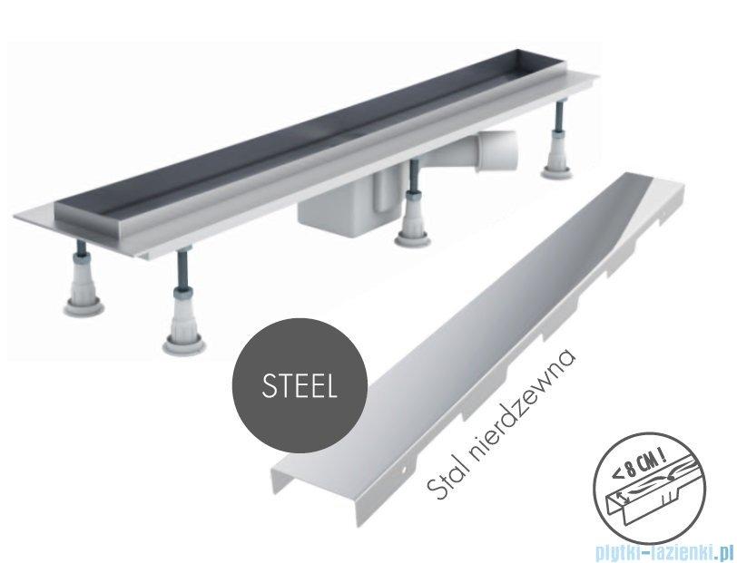 Schedpol Odpływ Liniowy Z Maskownicą Steel 90x8x95cm Olsl90