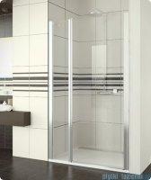 SanSwiss Swing Line SL13 Drzwi prysznicowe 100cm profil srebrny SL1310000107