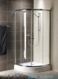 Radaway Premium A Kabina półokrągła 90x90x190 szkło fabric 30403-01-06
