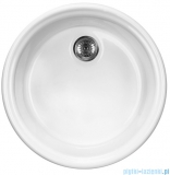 Deante Lusitano zlewozmywak ceramiczny 1-komorowy okrągły bez ociekacza biały ZCL 680N