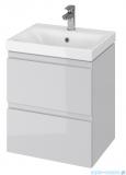 Cersanit Moduo Slim szafka wisząca z umywalką 50x35x62 cm szara S801-228