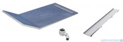 Schedpol brodzik posadzkowy podpłytkowy ruszt Plate 130+50x90x5cm 10.034/OLPL
