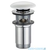 Omnires korek klik-klak do syfonu umywalkowego biały A706BP