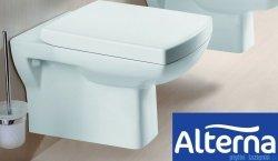 Alterna Claro miska wisząca WC z deską wolnoopadającą biała 550x350x340mm ALTN-124480