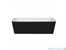 Besco Assos B&W umywalka nablatowa biało-czarna 40x50x15cm #UMD-A-NBBW