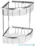 Omnires Uni Narożny podwójny koszyk prysznicowy mocowany do ściany chrom UN3509CR
