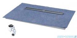 Schedpol brodzik posadzkowy podpłytkowy ruszt Steel 100x80x5cm 10.007/OLDB/SL