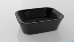 Besco Assos Black umywalka nablatowa 40x50x15cm czarny połysk ASOS-CZ-NA