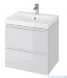 Cersanit Moduo szafka wisząca z umywalką 60x45x62 cm szara S801-222