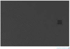 New Trendy Mori brodzik prostokątny z konglomeratu 120x90x3 cm szary B-0399