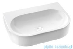 Marmorin Pia 600 umywalka wisząca 60x41 bez przelewu z otworem na baterie biała 571060020011