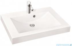 Marmorin umywalka nablatowa Moira Bis 60, 60 cm z otworem biała 280060022011