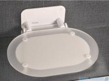 Ravak Siedzisko Ovo chrome Clear białe do kabin prysznicowych B8F0000028
