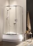 Radaway Premium Plus A Kabina półokrągła 80x80 wysokość 170cm szkło satinato 30411-01-02N