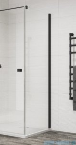 SanSwiss Annea Black Line ścianka boczna 100x200cm profile czarne ANT10000607