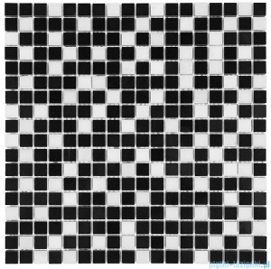 Dunin Black & White mozaika kamienna 30x30 Pure Black mix 15
