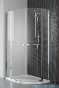 Radaway Eos II PDD kabina prysznicowa 100x100 szkło przejrzyste + brodzik Patmos A + syfon 3799472-01L/3799472-01R/4S11155-03