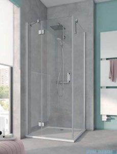 Kermi Osia Ściana boczna, szkło przezroczyste, profile srebrne 75x200cm OSTWD07520VPK