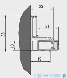 SanSwiss Cadura Black Line zestaw montażowy do wnęki V2.CA.06