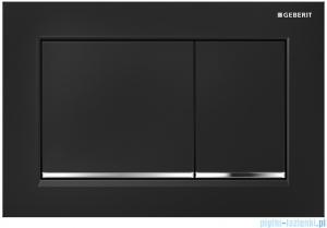 Geberit Omega30 Przycisk uruchamiający przedni/górny czarny/chrom błyszczący/czarny 115.080.KM.1