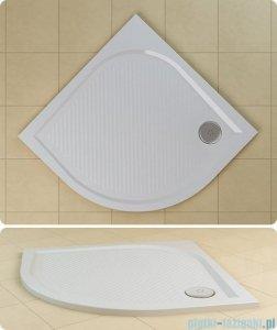 SanSwiss WMR Brodzik półokrągły konglomeratowy 80x80cm granit czarny WMR550800154