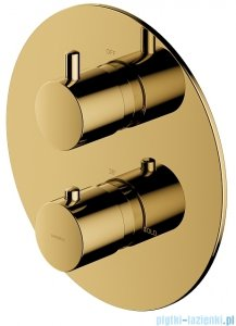 Omnires Y bateria podtynkowa termostatyczna 2-wyjściowa element natynkowy złota Y1236ROGL