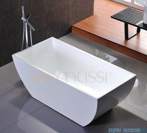 Massi Tasse 150 wanna wolnostojąca prostokątna 150x78 cm biała MSWA821150
