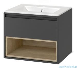Excellent Tuto szafka wisząca z umywalką 70x50x45 cm szary dąb MLEX.0101.700.GRBL/CEEX.3617.700.WH