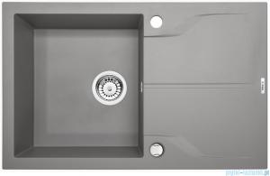 Deante Andante zlewozmywak 1-komorowy z ociekaczem 78x49 cm Szary mertalik ZQN S113
