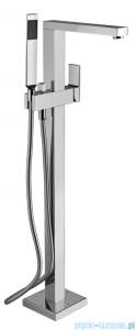 Paffoni bateria wannowa podłogowa z zestawem prysznicowym Elle chrom EL033CR