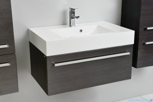 Antado Spektra szafka z umywalką, wisząca 80x50x33 grafit połysk FDF-442/8GT-46 + UNA-800