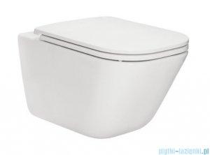 Roca Gap Rimless MaxiClean miska WC wisząca + deska wolnoopadająca Slim A34647L00M/A801482211