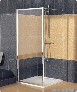 SanSwiss Eco-Line Ścianka boczna Ecof 70cm profil biały szkło przejrzyste ECOF07000407