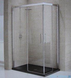 Novellini Elysium Kuadra A Ścianka prysznicowa 96cm lewa szkło przejrzyste profil chrom KUADA96LS-1K
