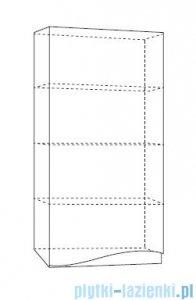 Antado Wave szafka wisząca lewa 40x20x80cm szary mat VA-119L-U112