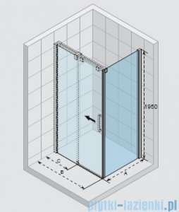Riho Ocean ścianka boczna prawa 80x195cm GU0300102