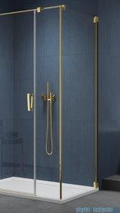 SanSwiss Cadura Gold Line ścianka boczna Cat5 120x200cm profile złote CAT51201207