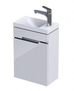 Oristo Silver Compact szafka z umywalką 40x50x22cm biały połysk OR33-ZD1D-40-1