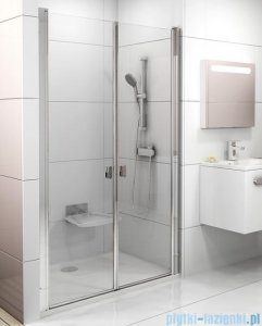 Ravak Chrome CSDL2 drzwi prysznicowe 110cm białe transparent 0QVDC10LZ1