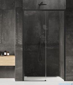 New Trendy Prime Black drzwi wnękowe pojedyncze 130x200 cm prawa przejrzyste D-0323A