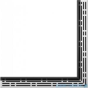 Tece Ruszt kątowy Basic ze stali nierdzewnej Tecedrainline 120x120 cm połysk 6.112.10