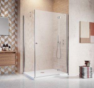 Radaway Torrenta Kdj Kabina prysznicowa 80x90 prawa szkło przejrzyste + brodzik Doros D + syfon 32247-01-01NR
