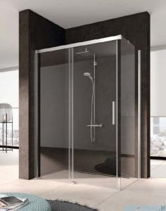Kermi Nica Ściana boczna prawa, szkło przezroczyste, profile srebrne 100cm NITWR10020VPK