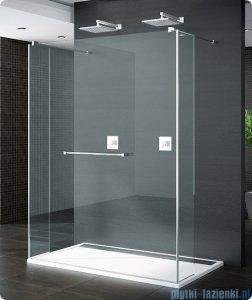 SanSwiss Pur Trio Ścianka stała 90-160cm profil chrom szkło Efekt lustrzany TRIOSM11053