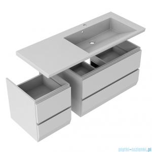Oristo Brylant szafka z umywalką prawa 125x50x48cm grafit/biały OR36-SD2S-85-5/OR36-SD2S-40-5/UME-BR-125-92-P