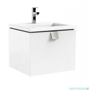 Oristo Bold szafka z umywalką Twins 50x39x45 biały połysk OR46-SD1S-50-1/UME-TW-50-91