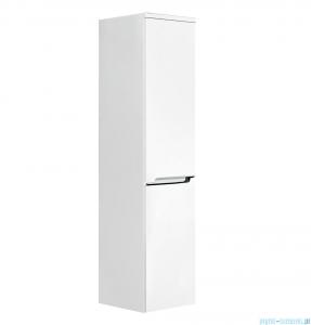 Oristo Silver szafka boczna wysoka lewa 35x144x35cm biały połysk OR33-SB2D-35-1-L