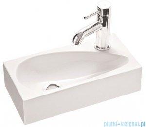 Marmorin umywalka nablatowa Elara 1 z otworem 40cm biała 390040020011
