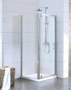 Kermi Acca Ściana boczna, szkło przezroczyste, profile srebrne 75x190cm ACTWD07519VPK
